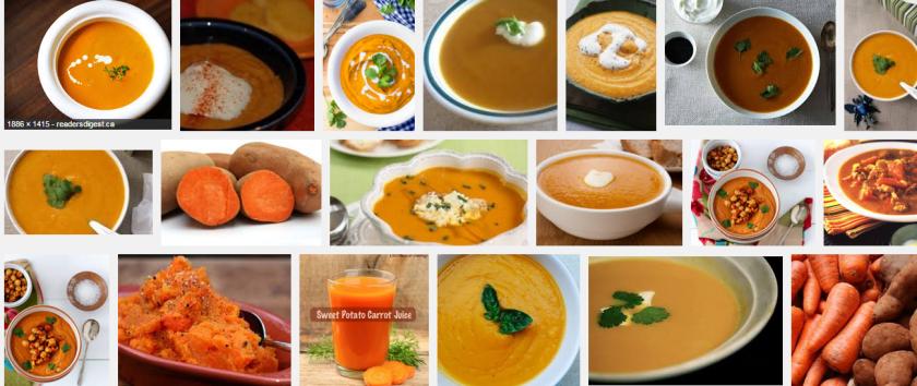 red orange sweet potatoes