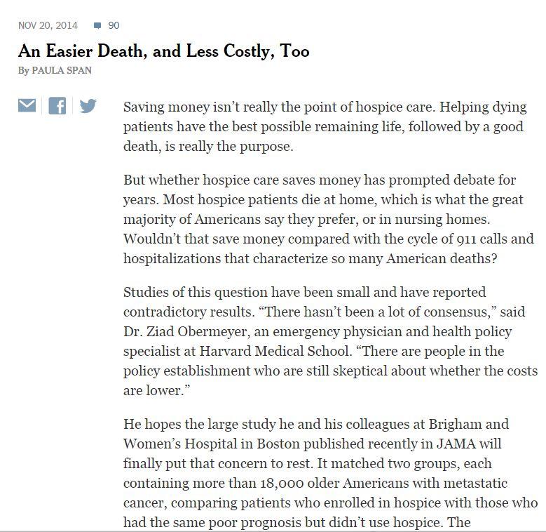 hospice death