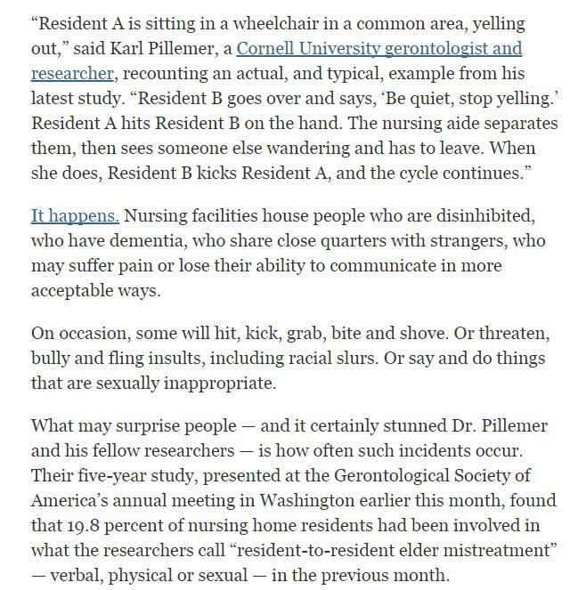 sad stories in nursing homes