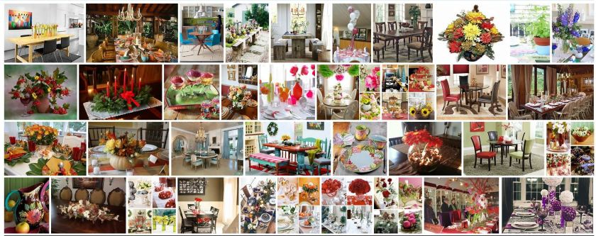 brighten up dining table