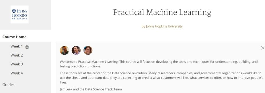 practical machine learning coursera