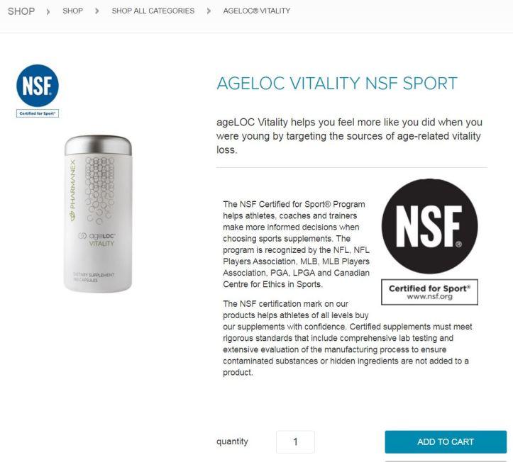 ageLOC vitality sport