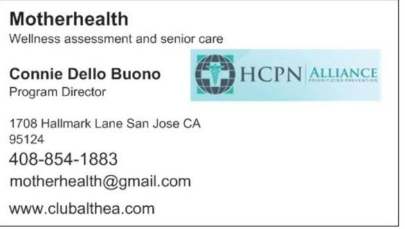 business card connie w hcpn logo