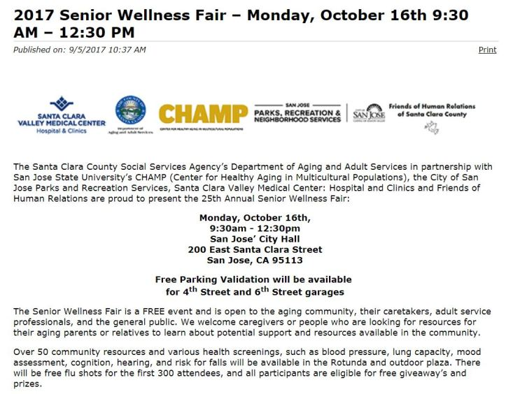 senior wellness fair